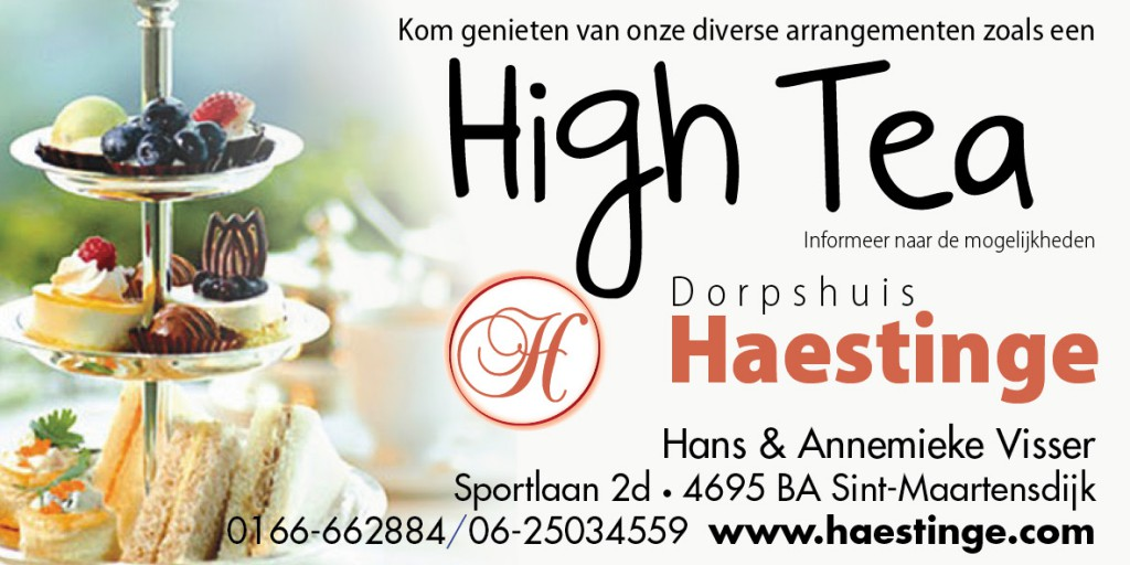 High Tea in Haestinge, maar ook high wine en beer